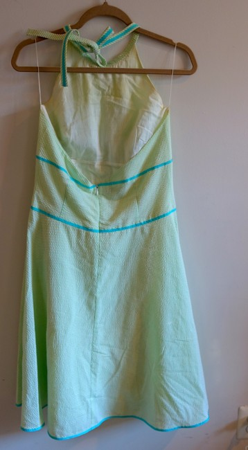 Elizabeth Wayman short dress Green Halter Seersucker Preppy Sundress on Tradesy Image 3