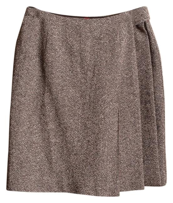 Preload https://img-static.tradesy.com/item/7528153/brown-tweed-wool-blend-silk-blend-knee-length-skirt-size-2-xs-26-0-1-650-650.jpg