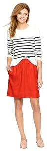J.Crew Mini Wool Mini Skirt Red