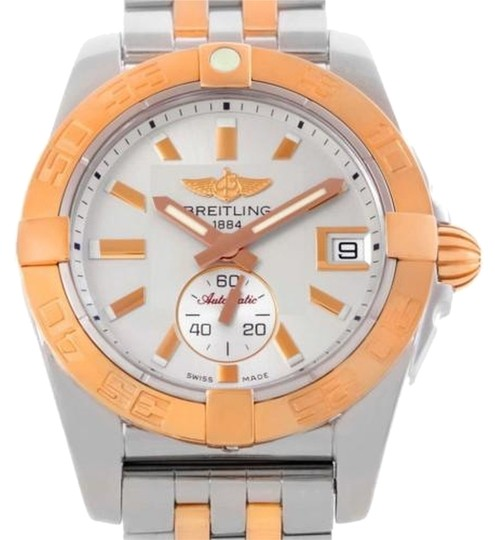 Breitling Breitling Galactic Stainless Steel Rose Gold Watch C37330