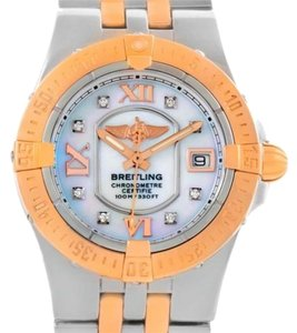 Breitling Breitling Galactic Starliner Ladies Steel Gold Diamond Watch A71340