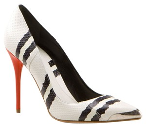 Alexander McQueen White, Black and Red Pumps
