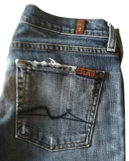 Item - Distressed Boot Cut Jeans Size 28 (4, S)