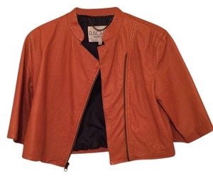 Rachel Roy Burnt Orange Leather Jacket