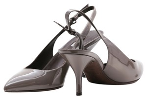 """Vera Wang Slingback Patent Leather 3"""" Taupe Formal"""