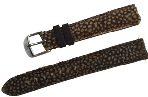 Michele Authentic MICHELE 16mm Brown Spotted Pony Hair Leather Watch Band Strap