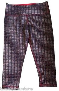 Lululemon Lululemon Wunder Under Crop Pant In Ziggy Wee Plaid Currant Flare Red