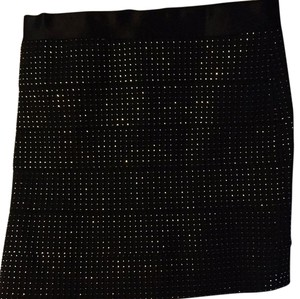 H&M Mini Skirt Black and silver