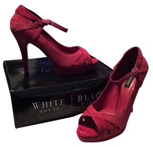 White House | Black Market Red Suede Platforms