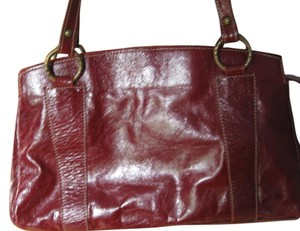 Ferchi Italian Leather Made In Italy Burgundy Red Hobo Bag