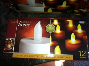 White Led Tealight Battery Operated New Never Used 24 Votive/Candle