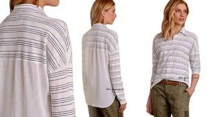 Anthropologie Top Grey & White