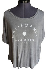 Brandy Melville California Paradise Cove T Shirt Grey