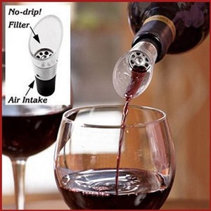 Clear Favor Gifts 10 Pieces - White Red Wine Liquor Air Aerator Pour Spout Bottle Stopper Decanter Pourer Aerating For Wedding