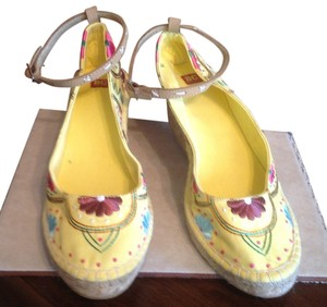 BC Footwear Yellow Wedges