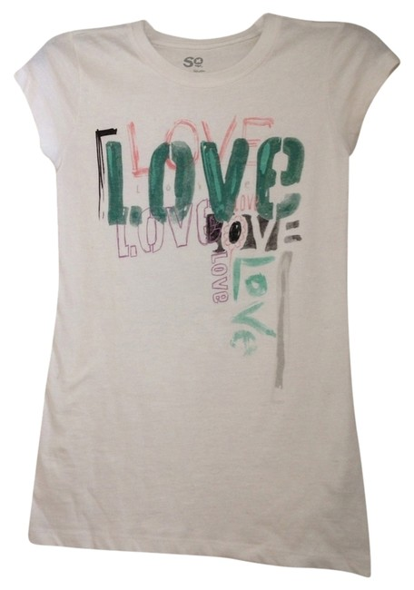 Preload https://item3.tradesy.com/images/white-love-t-tee-shirt-size-4-s-753132-0-0.jpg?width=400&height=650