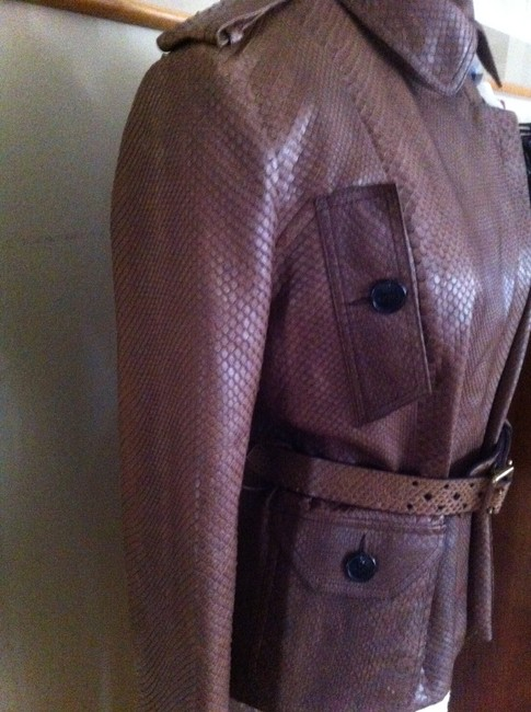 Dior Brown Leather Jacket Image 1