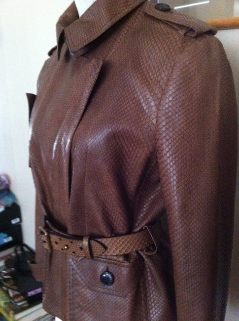 Dior Brown Leather Jacket Image 2
