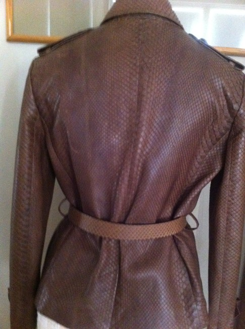 Dior Brown Leather Jacket Image 3