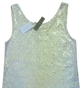 J.Crew Nude Pink Cream Sparkly Top Pink-nude, White Sequins