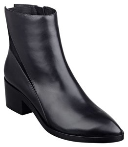 Sigerson Morrison Boot Leather Suede Geometric Black Boots