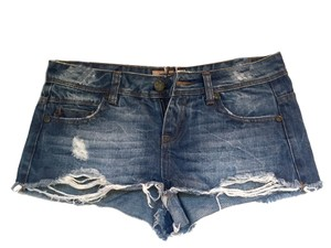 Vero Moda Ripped Distressed Denim Shorts-Light Wash