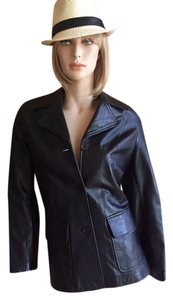 Michael Lawrence black Leather Jacket