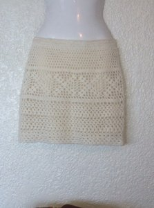 Urban Outfitters Pins Needles Woven Stretch Mini Anthropologie Skirt Off-white
