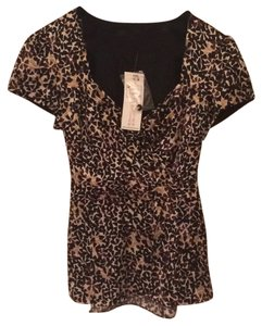 Nanette Lepore Top Chocolate Multi