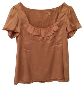 Nanette Lepore Top Taupe/Gold Top