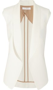 Chloé Silk Padded Cap Sleeve Sleeveless Closure Vest