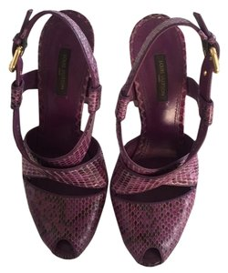 Louis Vuitton Purple Platforms