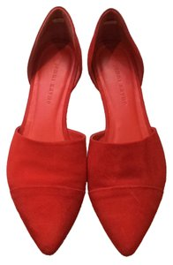 Jenni Kayne Suede D'orsay Pointed Leather Red Flats