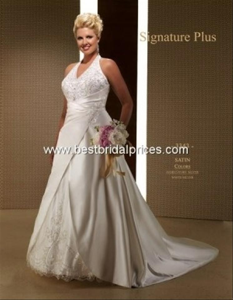 Ivory Satin Private Label Style 3343 Formal Wedding Dress Size 12 (L ...