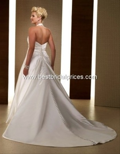Ivory Satin Private Label Style 3343 Formal Wedding Dress Size 12 (L)