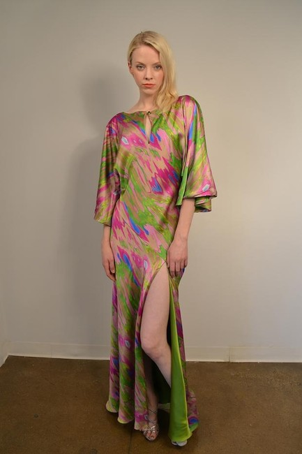 pink, lavender & green Maxi Dress by Douglas Hannant