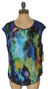 Matty M Printed Multicolor Top WATERCOLOR