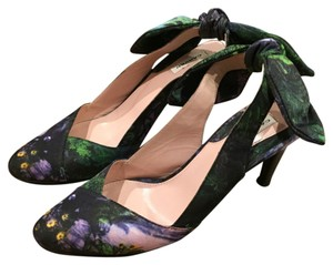 Carven Slingback Print Graphic Print green, purple Pumps