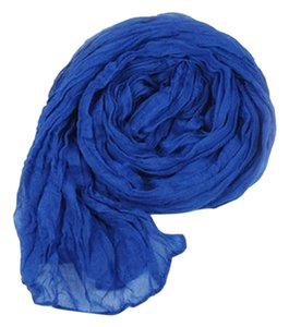 Other Sale! BRAND NEW! Soft Blue Cotton Crinkly Scarf Free Shipping