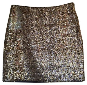 & Other Stories Sequin Party Dress Mini Skirt gold
