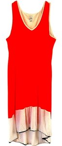 Newport News Machine Washable Color-blocking V-neck Dress