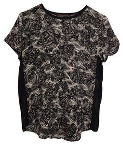 Heartloom Silk Short Sleeve Printed And T Shirt black & white