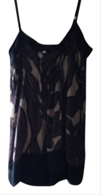 BCBGMAXAZRIA Top Purple/gray/black print