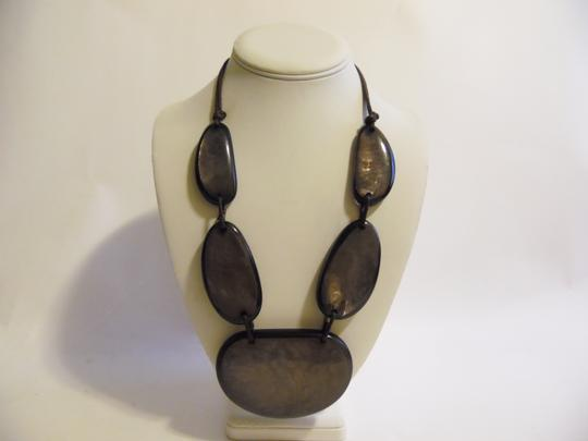 Other 21 Inch Resin Stone Statement Necklace Image 7