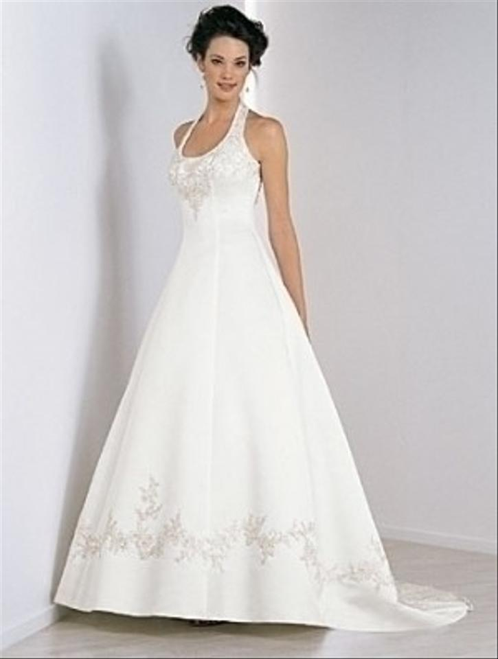 Alfred Angelo Ivory Satin 1424 Formal Wedding Dress Size Other - Tradesy