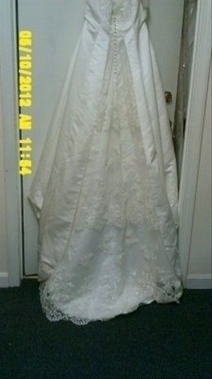 Alfred Angelo Ivory Satin 1424 Formal Wedding Dress Size Other