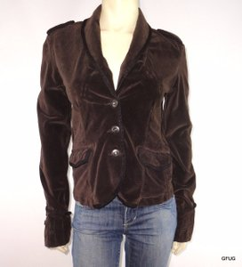 Sanctuary Clothing Sanctuary Anthropologie Velveteen Stretch Militant Inspired Brown Jacket
