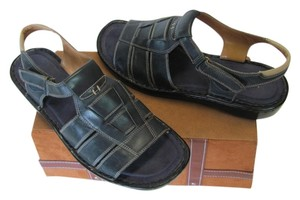 Naturalizer Leather Size 10.00 M Very Good Condition Navy Sandals