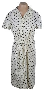 Carolina Herrera short dress Ivory with black polka dots on Tradesy