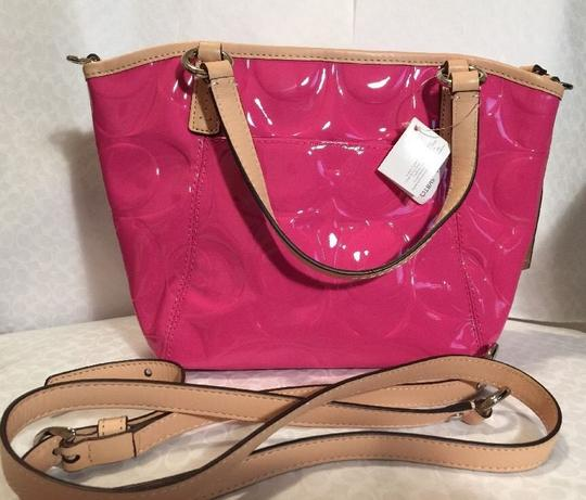 Coach Satchel in Mulberry/Tan Image 2